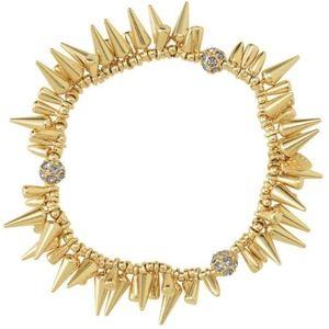 Stella & Dot Renegade Spike Bracelet in Gold